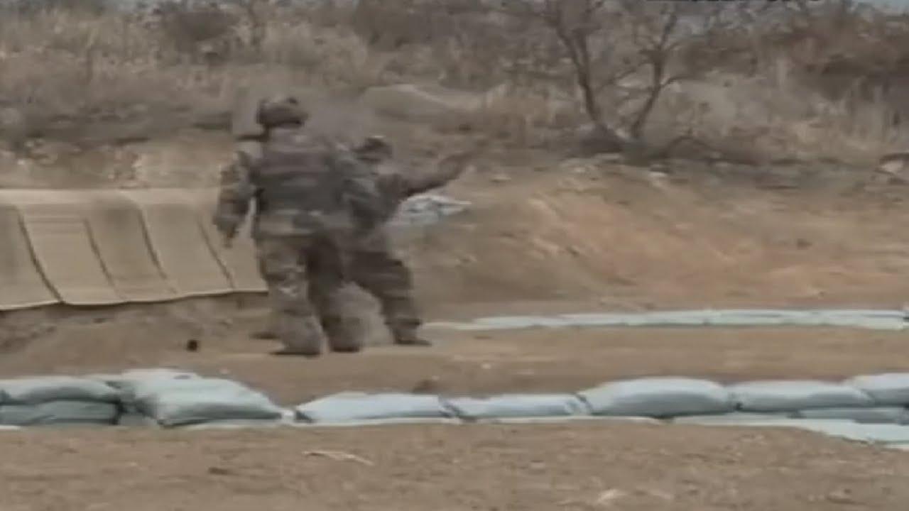 คลิประทึก! ทหารจีนปาระเบิดหลุดมือ จึงเกิดเหตุที่ไม่คาดคิดขึ้น