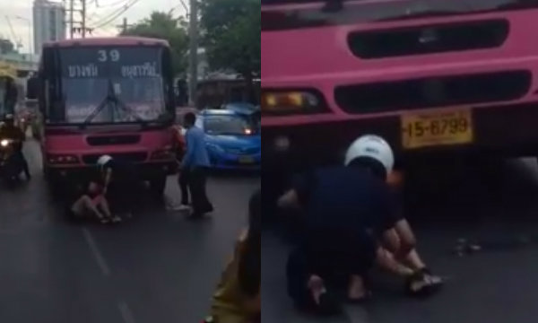 คลิประทึก สาวถูก รถเมล์สาย39 เยียบ!