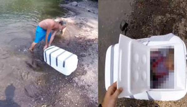 หลอนแน่! เมื่อมีกล่องลอยน้ำมามัดไว้เป็นอย่างดี พอเปิดดูผงะ มันทำไปเพื่ออะไร?