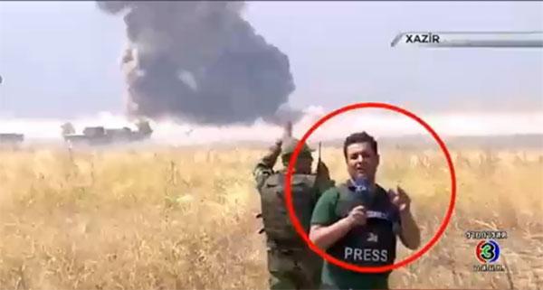 (คลิป)นักข่าวชายใจกล้า ยืนรายงานข่าวกลางสมรภูมิรบอิรัก