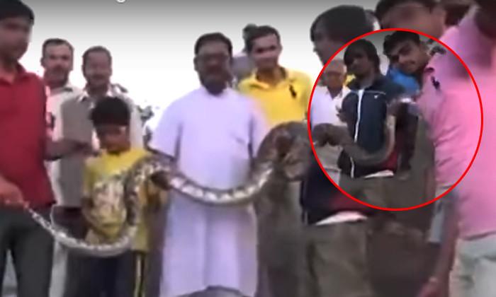 คลิประทึก! หนุ่มอินเดียเซลฟี่กับงู ก่อนโดนฉกเข้าจังๆ