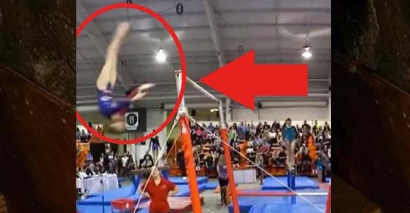 นักกีฬาโหนบาร์หลุดมือร่างลอยหัวทิ่ม โค้ชทำสิ่งนี้ทุกคนถึงกับปรบมือ!!